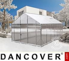 Gewächshaus Polycarbonat SANUS XL-12, 12,47m², 2,9x4,3x2,25m, Silber