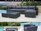 Muebles de jardín de poliratán de CosyLifeStyle de Dancover