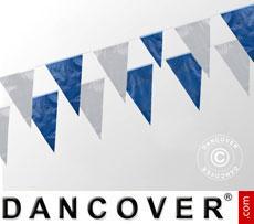 Cadena de banderines 10m, Azul/Blanca, 5 uds