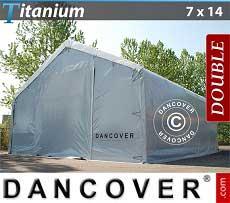 Carpa de almacén grande Titanium 7x14x2,5x4,2m
