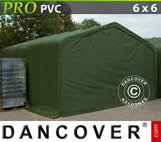 Carpa grande de almacén PRO 6x6x3,7m PVC