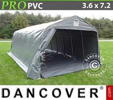 Carpa garaje PRO 3,6x7,2x2,68m PVC, con cubierta de terreno