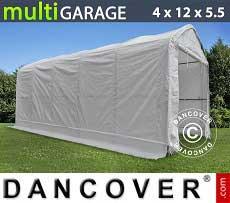 Carpa de almacén multiGarage 4x12x4,5x5,5m, Blanco