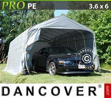 Carpa garaje PRO 3,6x6x2,68m PE, Gris