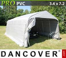 Carpa garaje PRO 3,6x7,2x2,68m PVC, Gris
