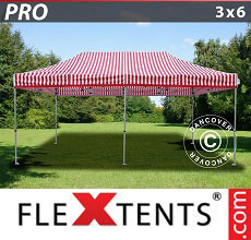 Carpa plegable FleXtents PRO 3x6m rayado
