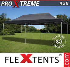 Carpa plegable FleXtents Xtreme 4x8m Negro