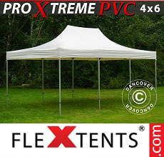 Carpa plegable FleXtents Xtreme Heavy Duty 4x6m, Blanco