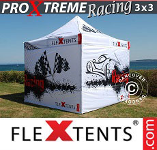 Carpa plegable FleXtents PRO Xtreme Racing 3x3m, Edición limitada