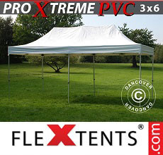 Carpa plegable FleXtents Xtreme Heavy Duty 3x6m, Blanco