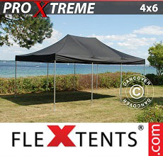Carpa plegable FleXtents Xtreme 4x6m Negro