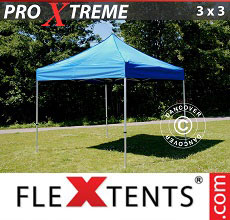 Carpa plegable FleXtents Xtreme 3x3m Azul