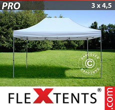 Carpa plegable FleXtents PRO 3x4,5m Blanco
