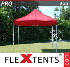 Carpa plegable FleXtents PRO 3x3m Rojo