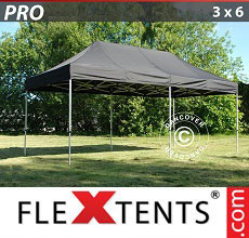 Carpa plegable FleXtents PRO 3x6m Negro
