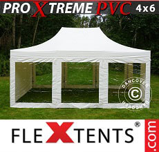 Carpa plegable FleXtents Xtreme Heavy Duty 4x6m blanco, Incl. 6 lados