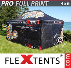 Carpa plegable FleXtents PRO con impresión digital completa, 4x6m, incluye 4