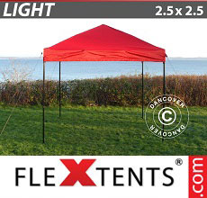 Carpa plegable FleXtents Light 2,5x2,5m Rojo