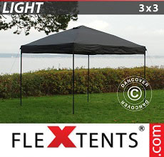 Carpa plegable FleXtents Light 3x3m Negro