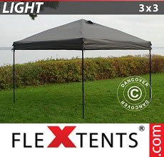 Carpa plegable FleXtents Light 3x3m Gris
