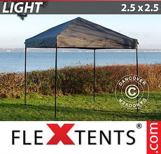 Carpa plegable FleXtents Light 2,5x2,5m Gris
