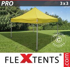 Carpa plegable FleXtents PRO 3x3m Amarillo