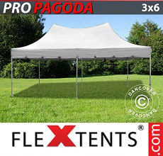 Carpa plegable FleXtents PRO Peak Pagoda 3x6m Latte