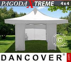Flextents Carpas Eventos Pagoda Xtreme 4x4m / (5x5m) Blanco, Incl. 4 lados