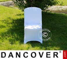 Cubierta flexible para silla, 48x43x89cm, Blanco (10 piezas)