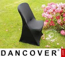 Cubierta flexible para silla, 48x43x89cm, Negro (10 piezas)