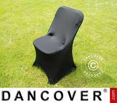 Cubierta flexible para silla, 44x44x80cm, Negro (10 piezas)