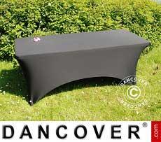 Cubierta flexible para mesa, 183x75x74cm, Negro