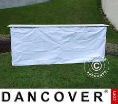 Panel lateral para mostrador de FleXtents PRO, 3m, Blanco