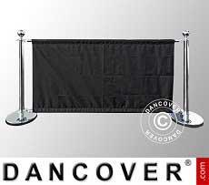Sistema de barrera, set para cafetería, Plateado con cartel negro