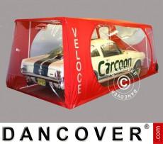 Carcoon Veloce 5,38x2,3 m Traslúcido/Rojo, Interior
