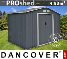 Caseta de jardín ProShed 2,77x1,91x2,02 m, Antracita