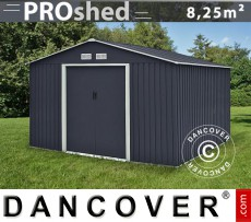 Caseta de jardín ProShed 2,77x3,19x2,02m, Antracita