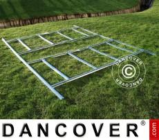 Caseta de jardin metalica, estructura para suelo ProShed 3,4x3,82m