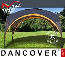 Refugio para camping, TentZing®, 3,5x3,5m, Naranja/Gris Oscuro