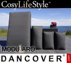 Fundas de cojín para sofá con brazos derecho/izquierdo Modularo, Negro