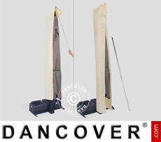 Cubierta para sombrilla con cremallera para Galileo Dark 3,5x3,5m, Crudo