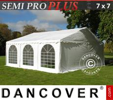 Carpa para fiestas SEMI PRO Plus 7x7m PVC, Blanco