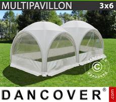 Carpa para fiestas Multipavillon en forma de cúpula 3x6m, Blanca
