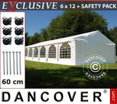 Carpa para fiestas Exclusive 6x12m PVC, Blanco