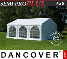 Carpa para fiestas SEMI PRO Plus 4x6m PVC, Blanco