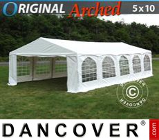 "Carpa para fiestas Original 5x10m PVC, ""Arched"", Blanco"