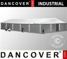 Nave de almacenamiento industrial 12x25x5,92m con puerta corredera, PVC/Metal,…