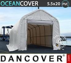 Carpa de almacén Oceancover 5,5x20x4,1x5,3m PVC