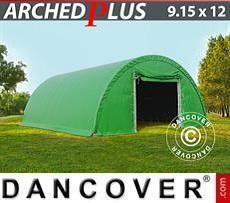 Carpa de almacén 9,15x12x4,5m PVC, Verde