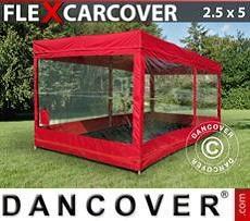 Garaje plegable FleX Carcover, 2,5x5m, Rojo